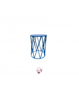 Accent Table: Royal Blue Diamond Accent Table