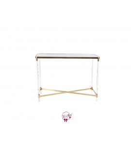 Table: Gold Mirrored Console Table