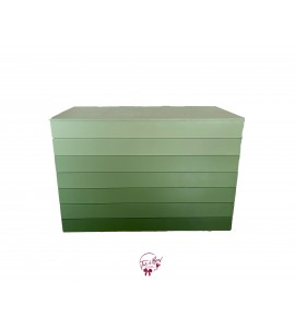 Table: Green Ombre Foldable Table