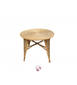 Table: Round Rattan Table