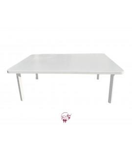 White Modern Picnic Table
