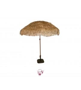 Umbrella: Tiki Style Umbrella with Stand