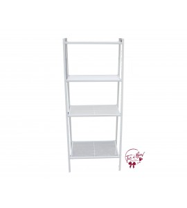 Ladder: White 4 Tier Metal Shelf