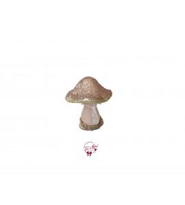 Mushroom: Blush Pink Velvet and Sequin Mushroom