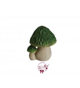 Mushroom: Large Green Glittery Duo Mushroom