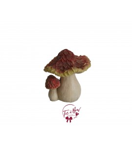 Mushroom: Large Orange Glittery Duo Mushroom