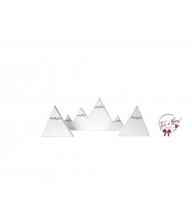 Snow Mountains Silhouette Set of 3