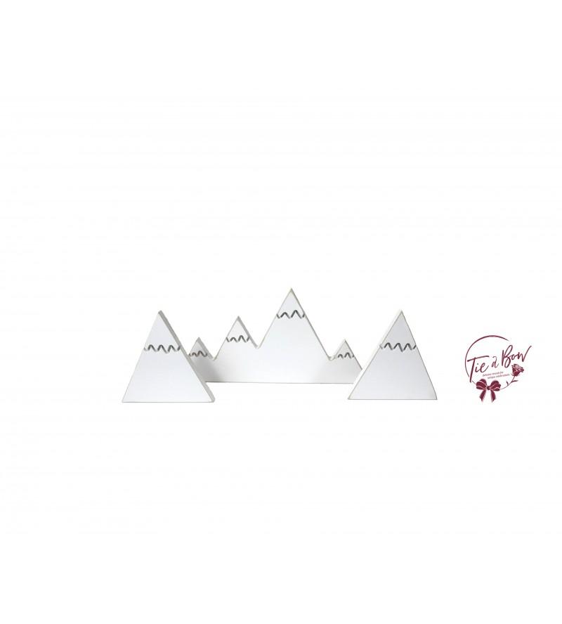 Snow Mountains Silhouette Set of 3