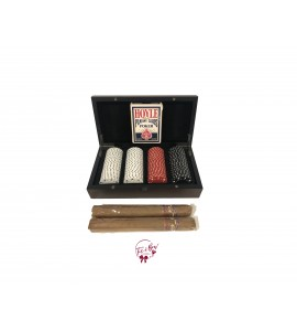 Poker Chips and 2 Cigars Set