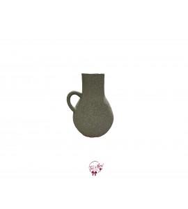 Olive Green Grainy Jar