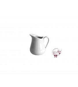 Jar: Mini White Pitcher