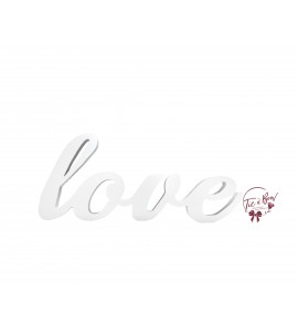 Word Love in White (Wood)