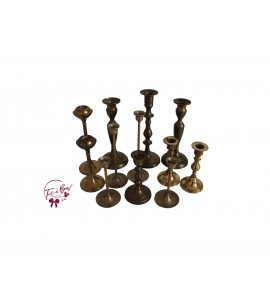 Candle Holder: Mix and Match Brass Candle Holder Set of 12