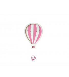 Hot Air Balloon Pink and White Lighted