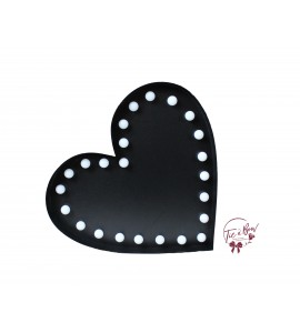 Heart Lighted: Large Black