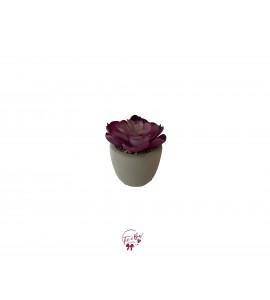 Cactus: Purple Faux Cactus in a Cement Pot (Mini)