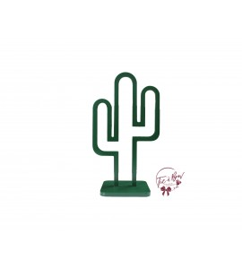 Cactus: Forest Green Keyhole Cactus Silhouette