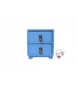 Blue: Sky Blue Mini Bedside Table