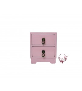 Pink: Light Pink Mini Bedside Table