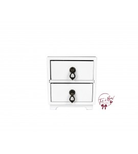 White Mini Bedside Table