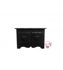 Black Mini Dresser With Heart Shaped Handles