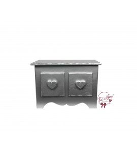 Silver Mini Dresser With Heart Shaped Handles