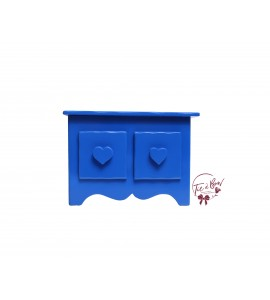 Blue: Royal Blue Mini Dresser With Heart Shaped Handles