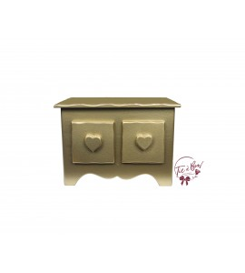 Gold Mini Dresser With Heart Shaped Handles