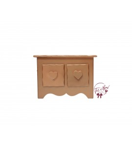 Rose Gold Mini Dresser With Heart Shaped Handles
