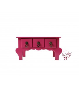 Pink: Dark Pink Mini Vanity Table