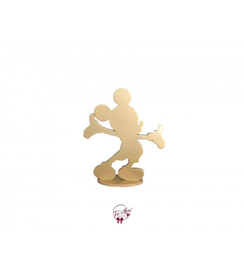 Golden Mickey Silhouette