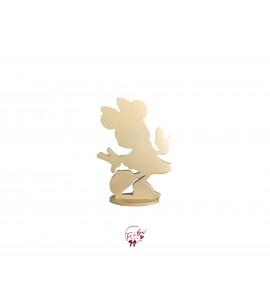 Golden Minnie Silhouette