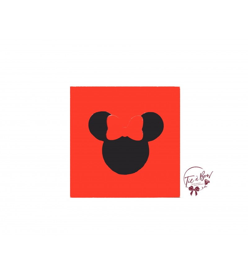 Disney Riser: 6 Inches Red With Minnie's Head