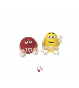 M&M Yellow and Red Set of 2