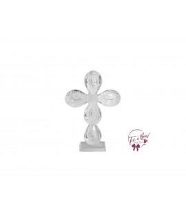 Cross: Round Shaped Crystal Cross