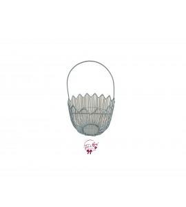 Basket: Medium Round Blue Basket