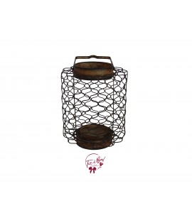 Basket: Rustic Candle Holder Basket