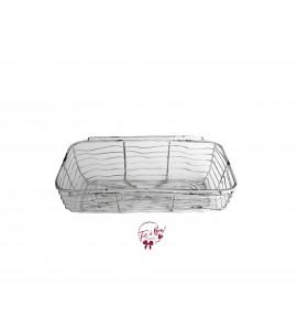 Basket: Rustic White Wire Basket