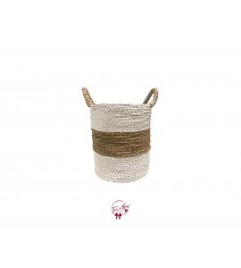 Basket: Seagrass 3 Stripes Basket