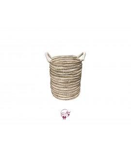 Basket: Seegrass Multiple Stripes Basket Medium