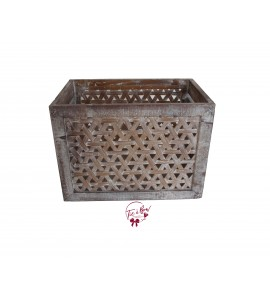 Crate: Rustic Caning Crate