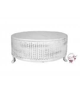 White: Off-White Round Riser