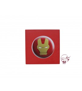 Superhero Riser: 6 Inches Red Iron Man Face
