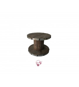 Wood: Wooden Spool Riser (Small)