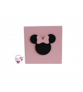 Disney Riser: 6 Inches Light Pink Riser With Minnie's Head