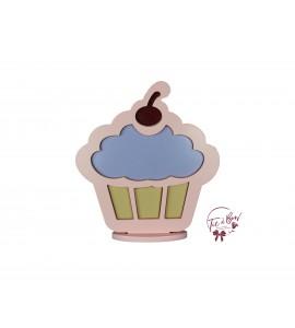 Cupcake Silhouette: Purple