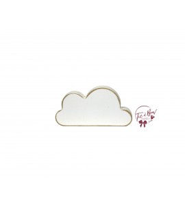 Cloud: 7 Inches Wide Distressed White Cloud Solid Silhouette