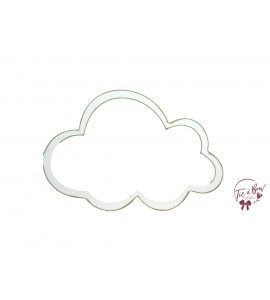 Cloud: 12 Inches Wide Distressed White Cloud Keyhole Silhouette