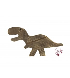 Brown Distressed Dinosaur in Silhouette
