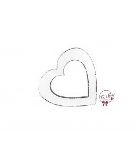 Heart: Distressed White Heart Keyhole Silhouette